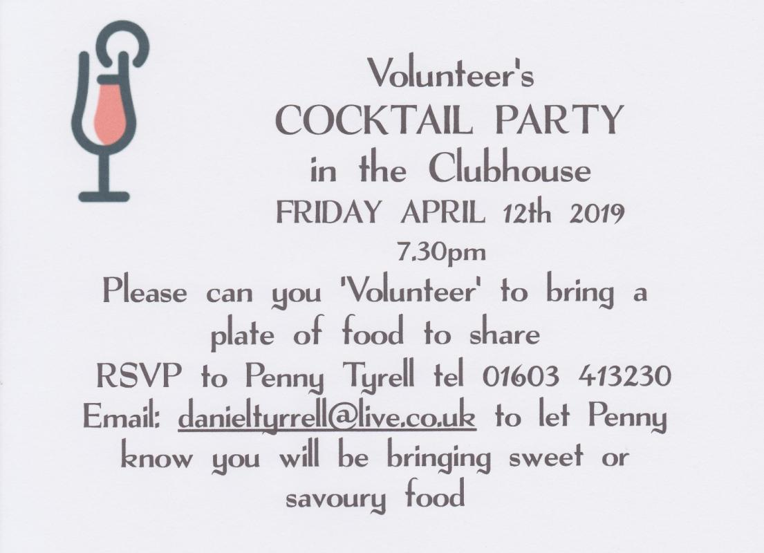 NFSC Volunteer's Cocktail Party